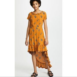 Baum Und Pferdgarten Orange Flowy Cheetah Dress